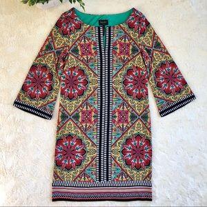 Laundry by shelli segal yellow red shift dress 6